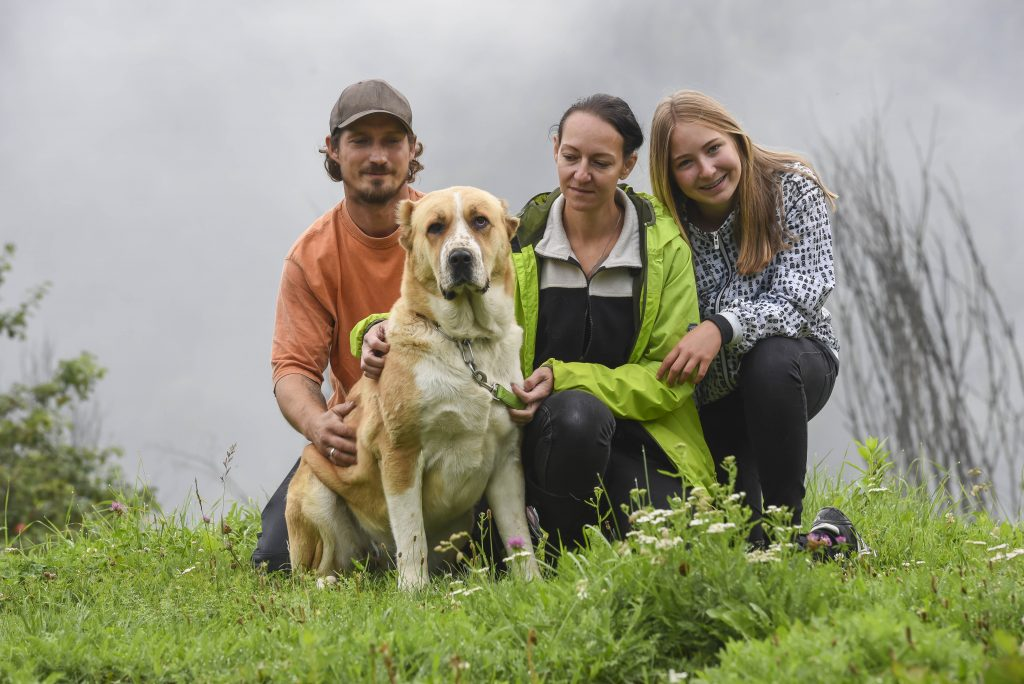 Ein Teil des Teams von Secure Base - Kompetenzförderung für Herdenschutzhunde und Halter